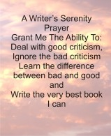 Writer Serenity Prayer