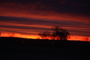 Winter Sunset on the High Plains