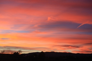 Winter Sunset New Mexico
